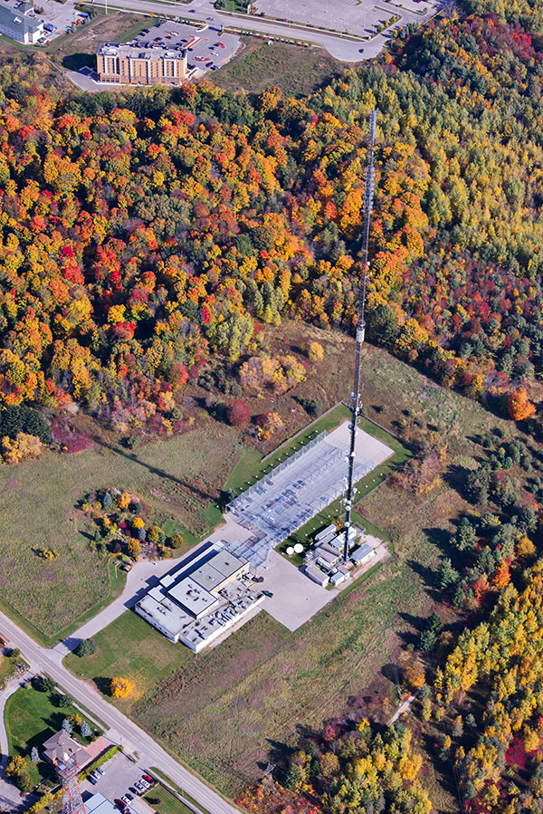 Radio Tower with Fall Colour