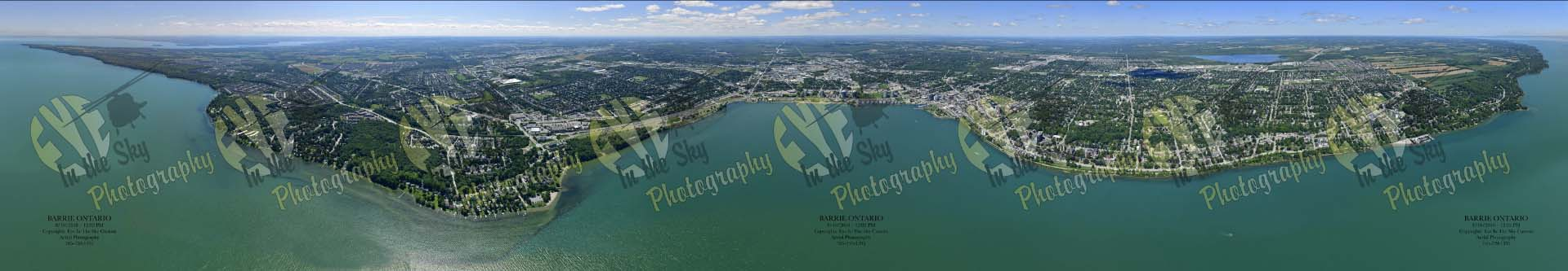 Eye In The Sky Unveils New 360 Degree Aerial Panorama of  Barrie, Ontario